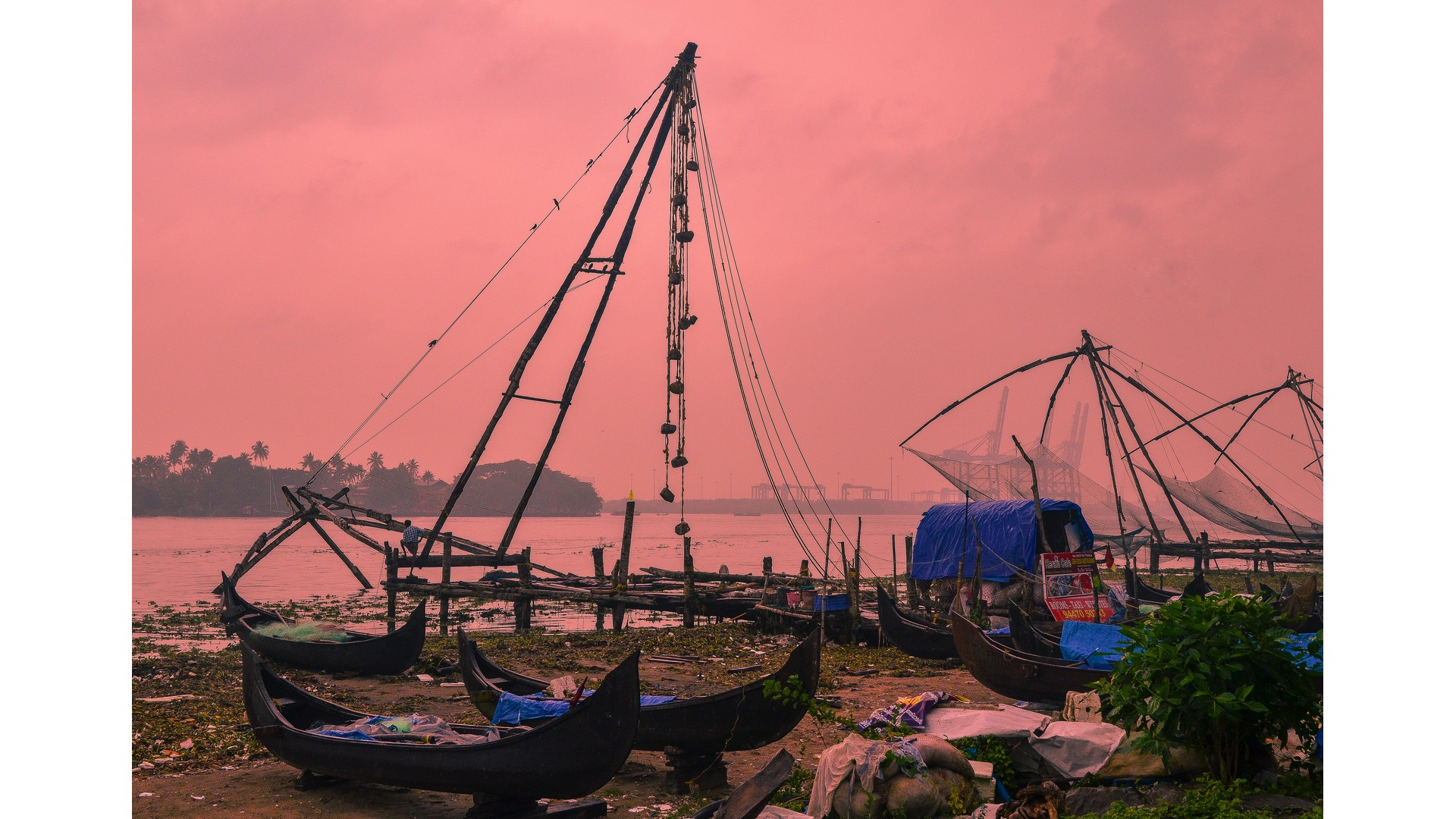 Chinese Fishing Nets Fort Kochi Photos