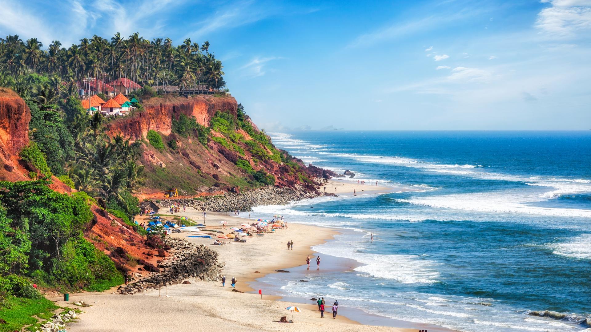 Varkala Beach and Cliff Photos