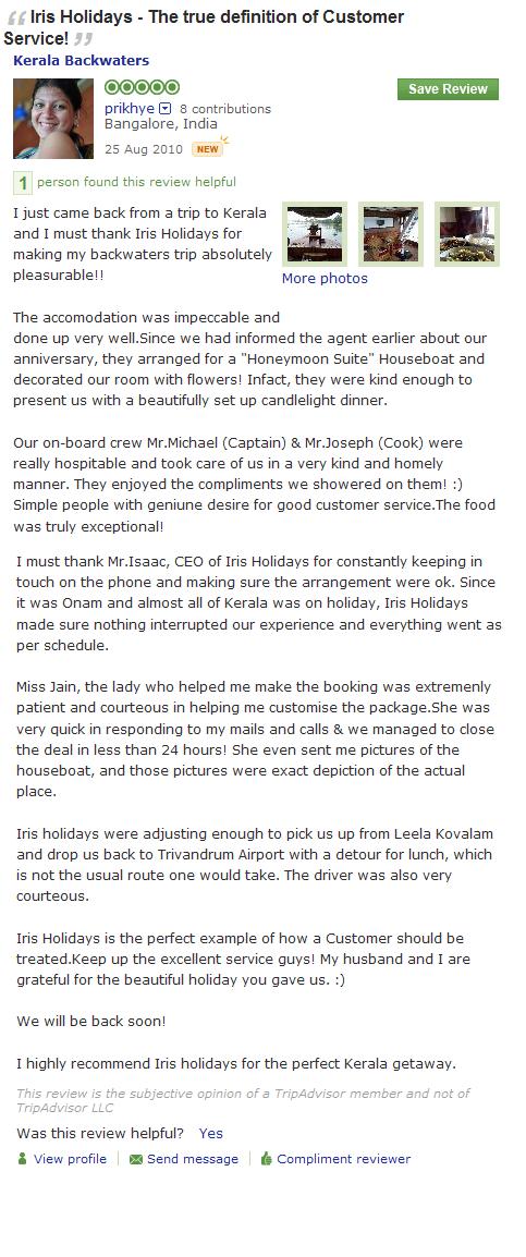 Kerala luxury houseboat review kerala tourism travel blog for Travel planners kerala reviews