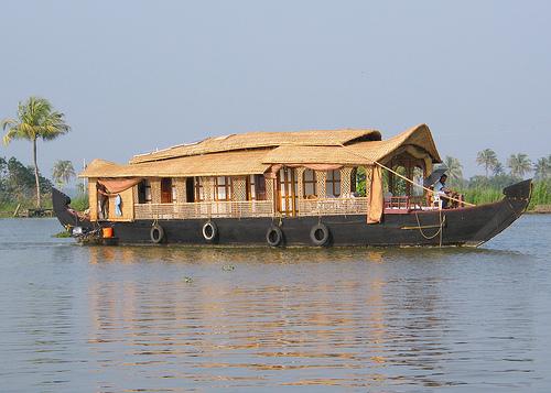 Cruising through the backwaters of Kerala