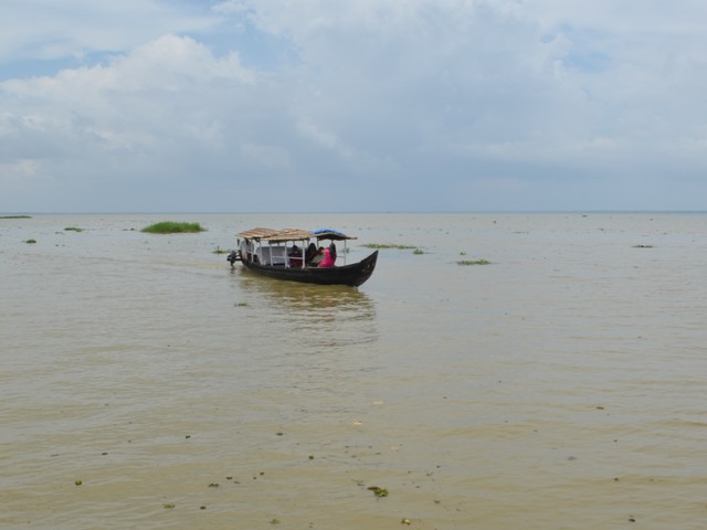 A Shikara Boat in Kumarakom Backwaters