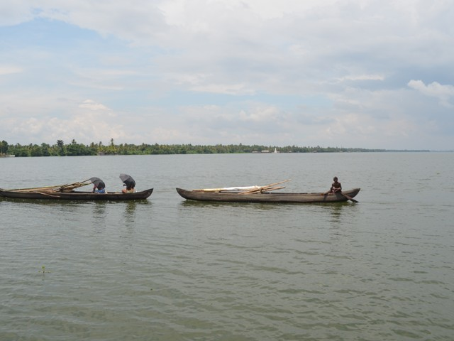 Fishermen in Kumarakom Backwaters