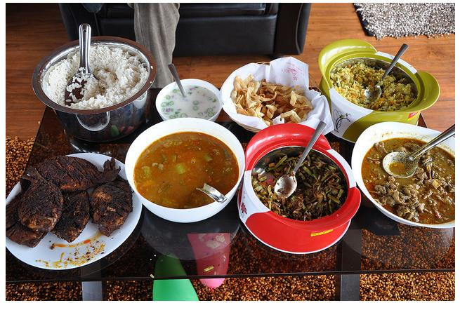 Kerala Houseboat Menu