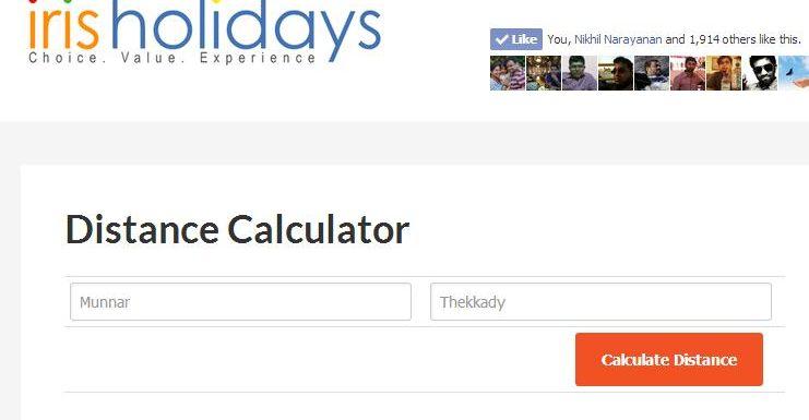 Kerala Distance Calculator
