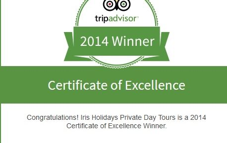 Iris Holidays Awarded 2014 TripAdvisor Certificate of Excellence