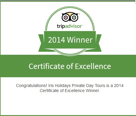 Iris Holidays Awarded 2014 TripAdvisor Certificate of Excellence
