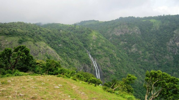 View from Waterfalls at Seethargund  Nelliampathy