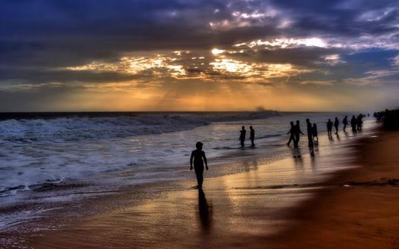 Sunset at Varkala Beach