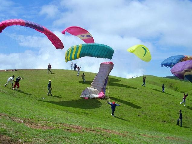 Paragiding is a sport in which the pilot can fly a lightweight, free-flying, foot-launched glider aircraft