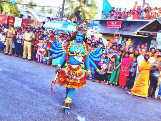 Scenes from Cochin Carnival as a part of New Year Celebrations in Kerala