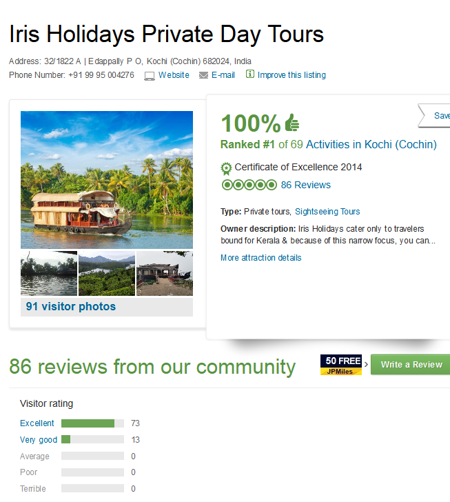 Iris Holidays Private Day Tours Reviews - Kochi Cochin , Kerala Attractions - TripAdvisor