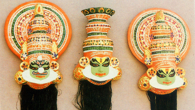 Kathakali masks from Kerala