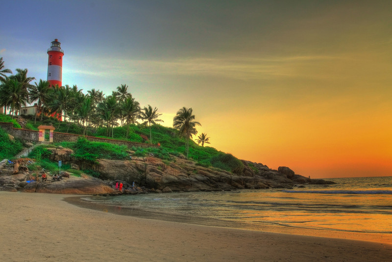 Watch Sunset at Kovalam Beach