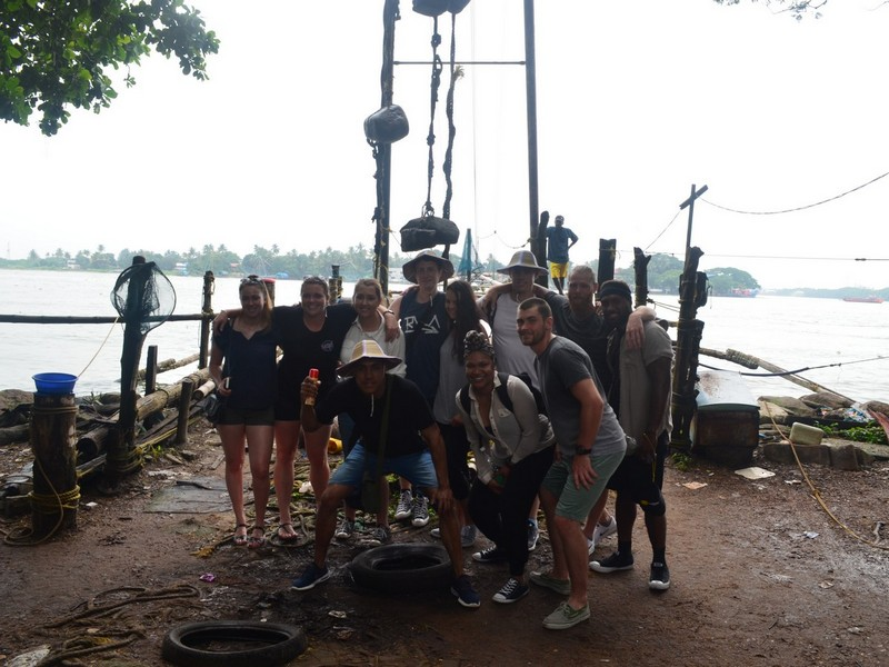 A Group Photo near Chinese Fishing Nets