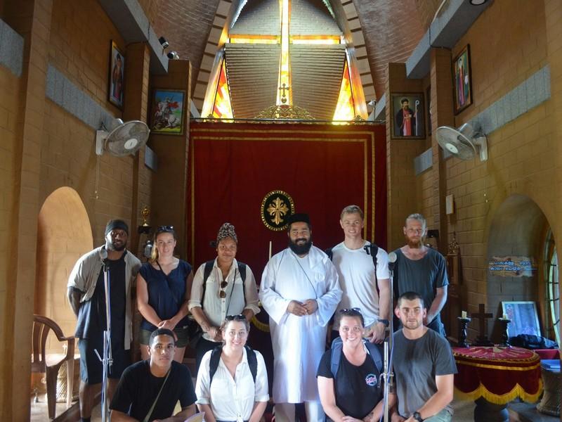 Meeting with the Priest in Koonan Kurishu Church in Frt Kochi