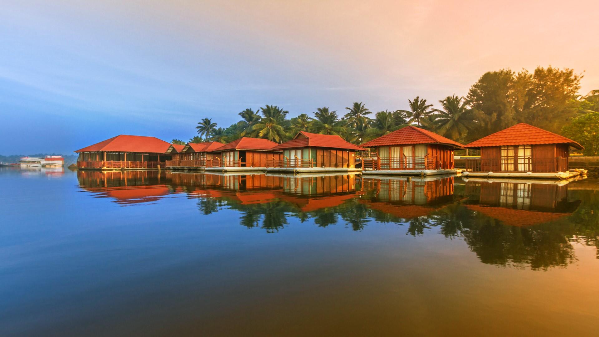 Floating Cottages in Poovar Island Resort