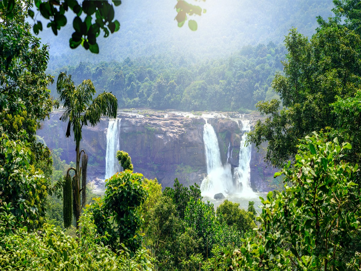Athirappilly water falls Thrissur district Kerala state India