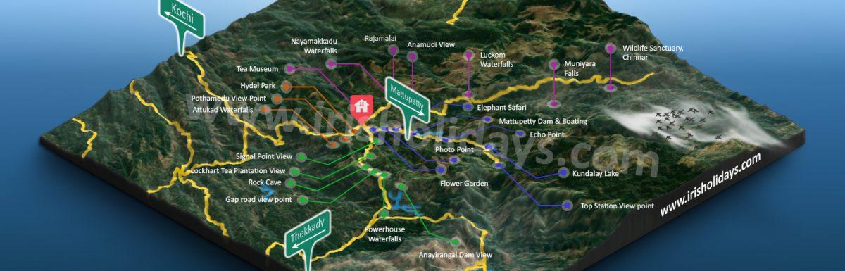 Munnar Tourist Map