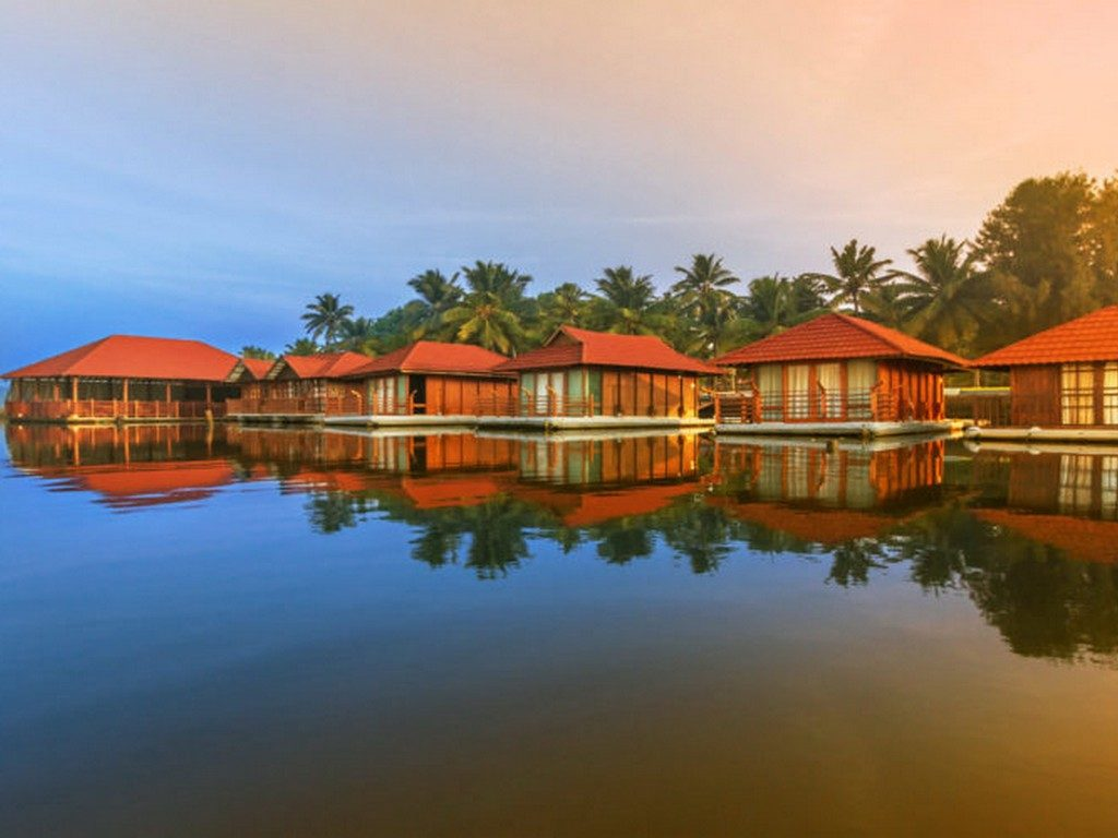 Floating Cottages in Poovar Backwaters