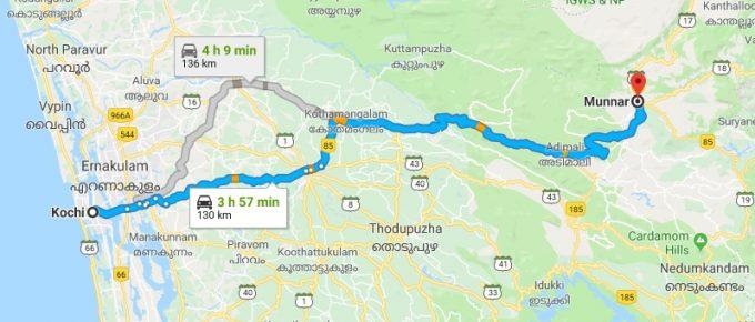 Cochin to Munnar
