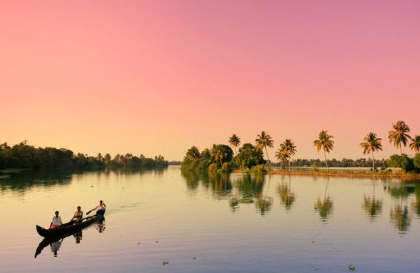Kerala Backwaters Map